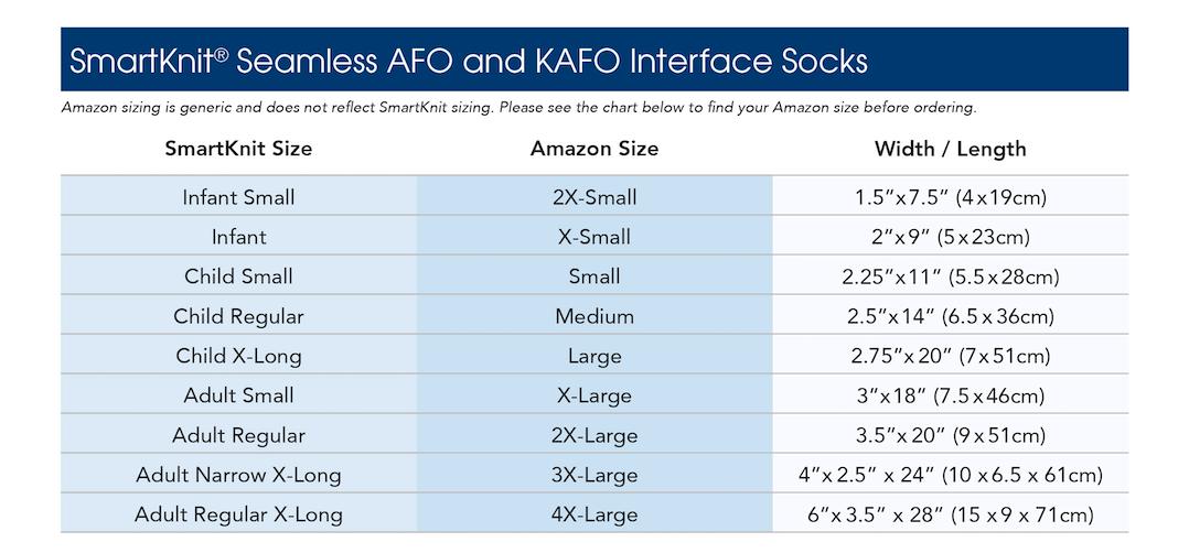 Smartknit-socks-size-chart