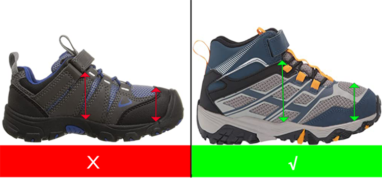 hiking-boots-for-kids-with-high-instep