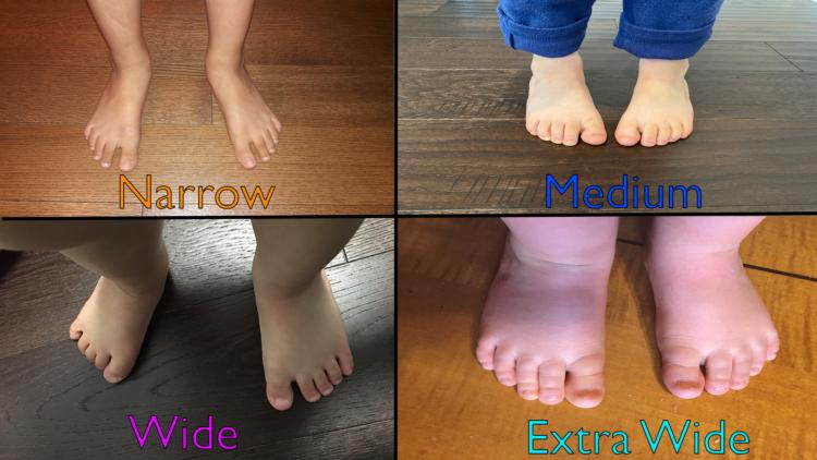 Narrow Medium Wide or Extra Wide Feet