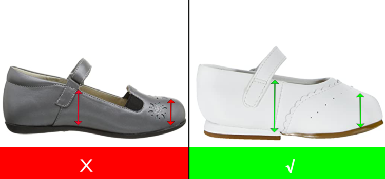 Dress Shoes for Toddlers with High Instep