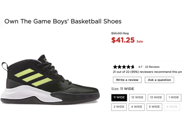 Extra Wide Basketball Sneakers for Kids